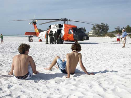 Anna Maria Islander: Coast Guard pilots take break on beach