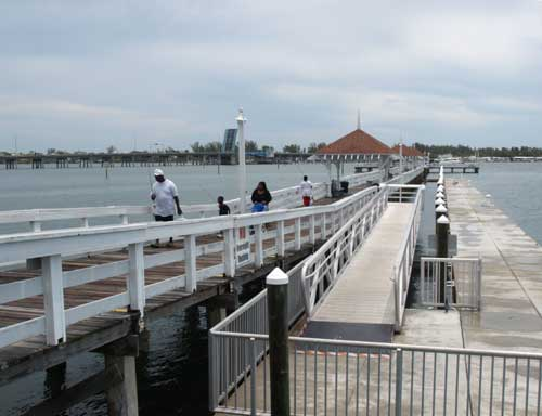 Anna Maria Islander: Fishing covered on Bridge Street pier