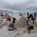 Storm clouds, rain fail to dampen sandcastle contest at Coquina Beach