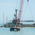 Anna Maria pier construction 'jets' forward