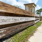 Anna Maria displays prototype of engraved pier plank fencing