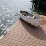 Storm, dinghy damage dock in Bradenton Beach