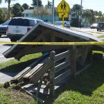 Trolley shelter taken down in Holmes Beach