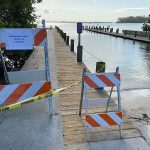 Fire damage leaves boat ramp dock closed