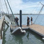 Tropical storm leaves BB pier, floating dock damaged