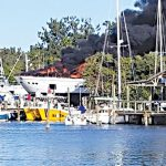 'Tenacious' fire in Cortez, $2.5M yacht a total loss